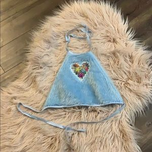 Indyanna Blue Fur Top